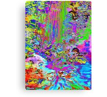 Psychedelic Forest Stream Canvas Print