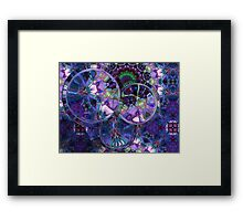 Refraction Over Fractal Framed Print