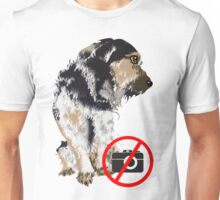 Not in the mood for photos dog Unisex T-Shirt