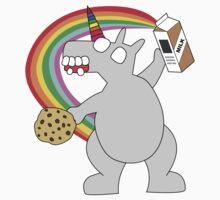 angry zombie unicorn has a snack Kids Tee