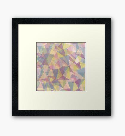 Triangle dull ornament Framed Print