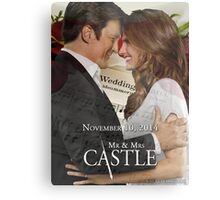 Caskett Wedding Metal Print