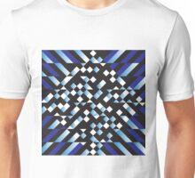 dark blue cross abstract background Unisex T-Shirt