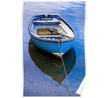 Little blue boat in Mevagissey, Cornwall Poster