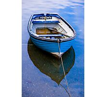 Little blue boat in Mevagissey, Cornwall Photographic Print