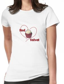 Red Velvet Cupcake Womens Fitted T-Shirt