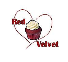 Red Velvet Cupcake Photographic Print