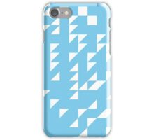 blue slide with gradient abstract background iPhone Case/Skin
