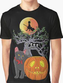Cat Halloween Graphic T-Shirt