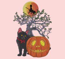 Cat Halloween Baby Tee