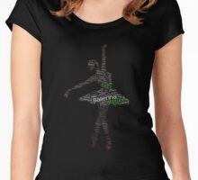 Ballerina Typography Women's Fitted Scoop T-Shirt