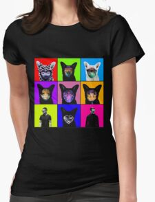 GALANTIS SEAFOX FAMILY POP ART Womens Fitted T-Shirt