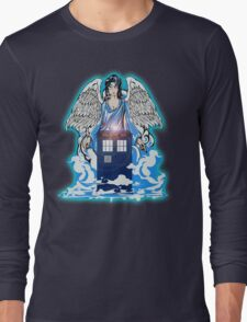 The angel has a phone box Long Sleeve T-Shirt
