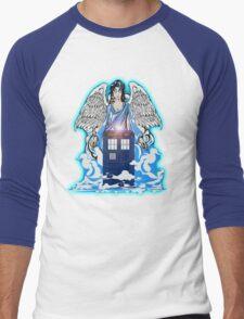 The angel has a phone box Men's Baseball ¾ T-Shirt
