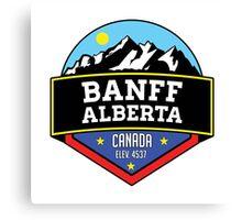 BANFF ALBERTA CANADA Skiing Ski Mountain Mountains Snowboard Boating Hiking 2 Canvas Print