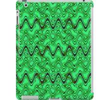 Green Black Squiggle Pattern iPad Case/Skin