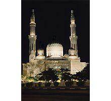 Jumeirah Mosque at Night Photographic Print