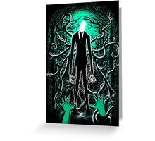 Slender Man 01 Greeting Card