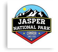 JASPER NATIONAL PARK ALBERTA CANADA Skiing Ski Mountain Mountains Snowboard Boating Hiking Canvas Print