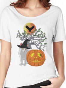 Cat Halloween Women's Relaxed Fit T-Shirt