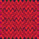 Red and Black Squiggles Pattern by donnagrayson