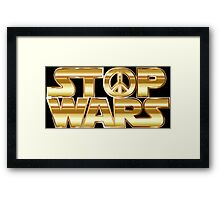 Star Wars Parody - Stop Wars  Framed Print