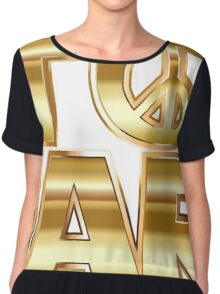 Star Wars Parody - Stop Wars  Chiffon Top