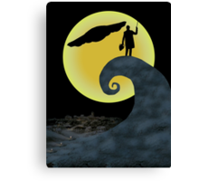 The Doctor's Nightmare Before Christmas Canvas Print