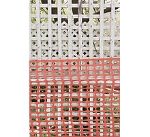 Protected (protection zone safety fence pattern) Photographic Print