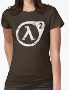 HL2 White Womens Fitted T-Shirt