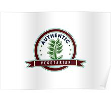 Authentic Vegetarian Poster
