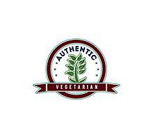 Authentic Vegetarian Photographic Print