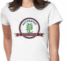 Authentic Vegetarian Womens Fitted T-Shirt