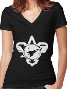 Galactic Rangers Women's Fitted V-Neck T-Shirt
