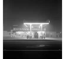 U-Save in fog Photographic Print