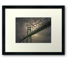 gothic skies Framed Print