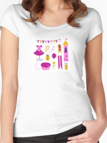 Vector collection of design elements for Princess Party Women's Fitted Scoop T-Shirt