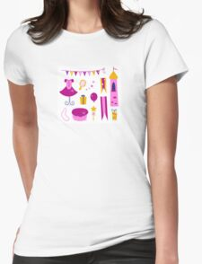 Vector collection of design elements for Princess Party Womens Fitted T-Shirt