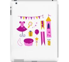 Vector collection of design elements for Princess Party iPad Case/Skin