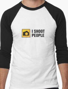 I Shoot People II Men's Baseball ¾ T-Shirt