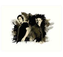 Sam & Dean Art Print