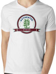 Authentic Vegan Mens V-Neck T-Shirt