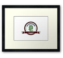 Authentic Vegan Framed Print