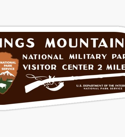 Kings Mountain National Military Park sign Sticker