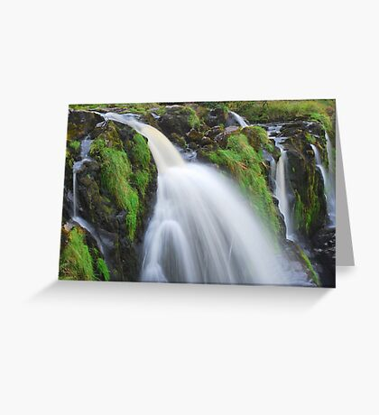 Waterfall..The Loup (Leap) of Fintry Greeting Card