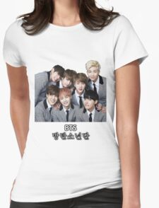 BTS Bangtan Boys Womens Fitted T-Shirt