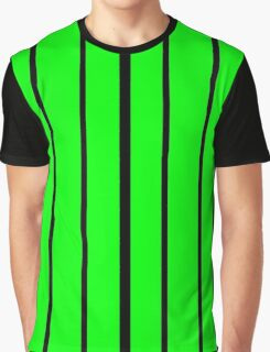 Thick To Thin Black - Green Lines Graphic T-Shirt