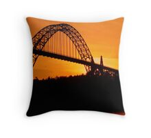 Yaquina Bay Bridge at Sunset Throw Pillow