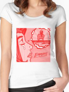 Red Summertime Shootout Women's Fitted Scoop T-Shirt