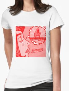 Red Summertime Shootout Womens Fitted T-Shirt